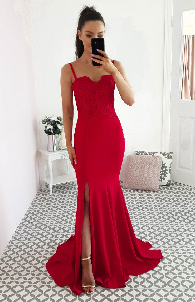 Polly Gown Red