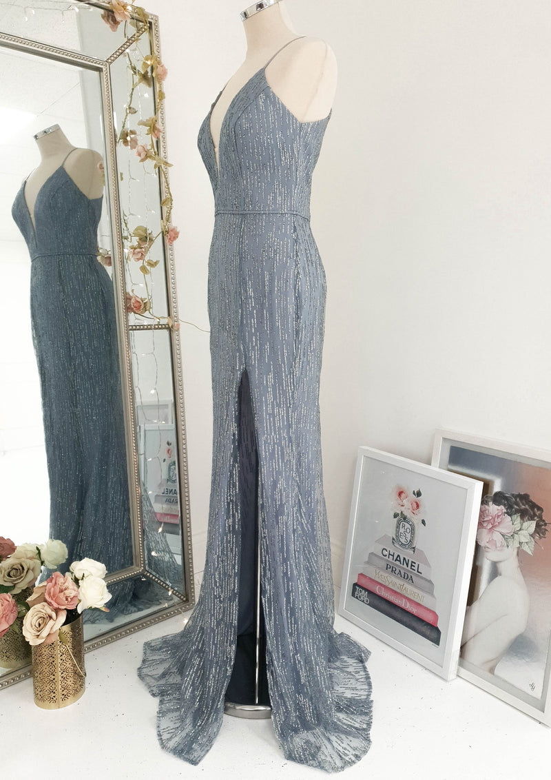 Hilda Gown Slate Grey