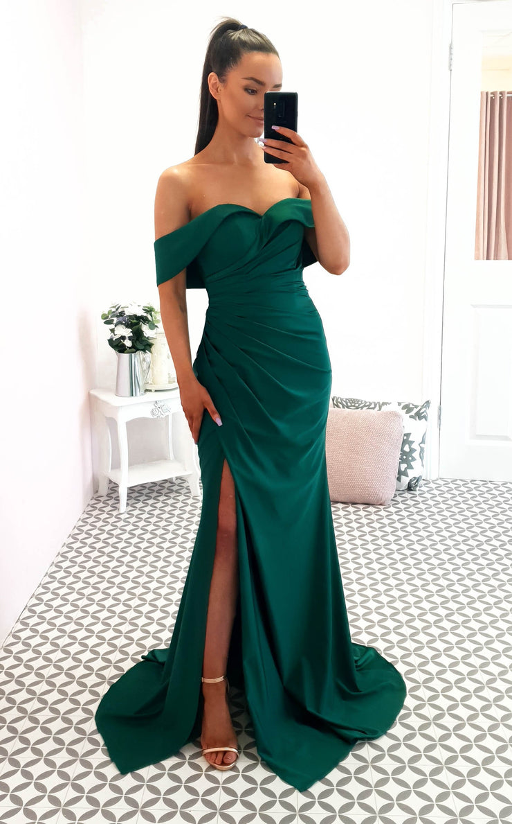 Elyse Gown Emerald Green