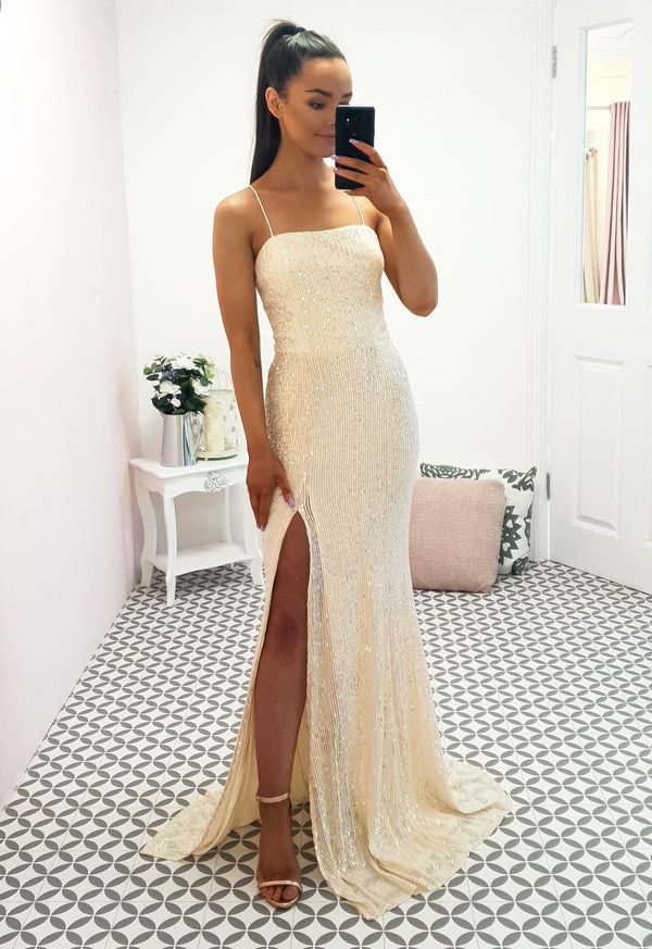 Mila Sequin Gown Iridescent