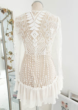 Lucia Mini Dress Nude