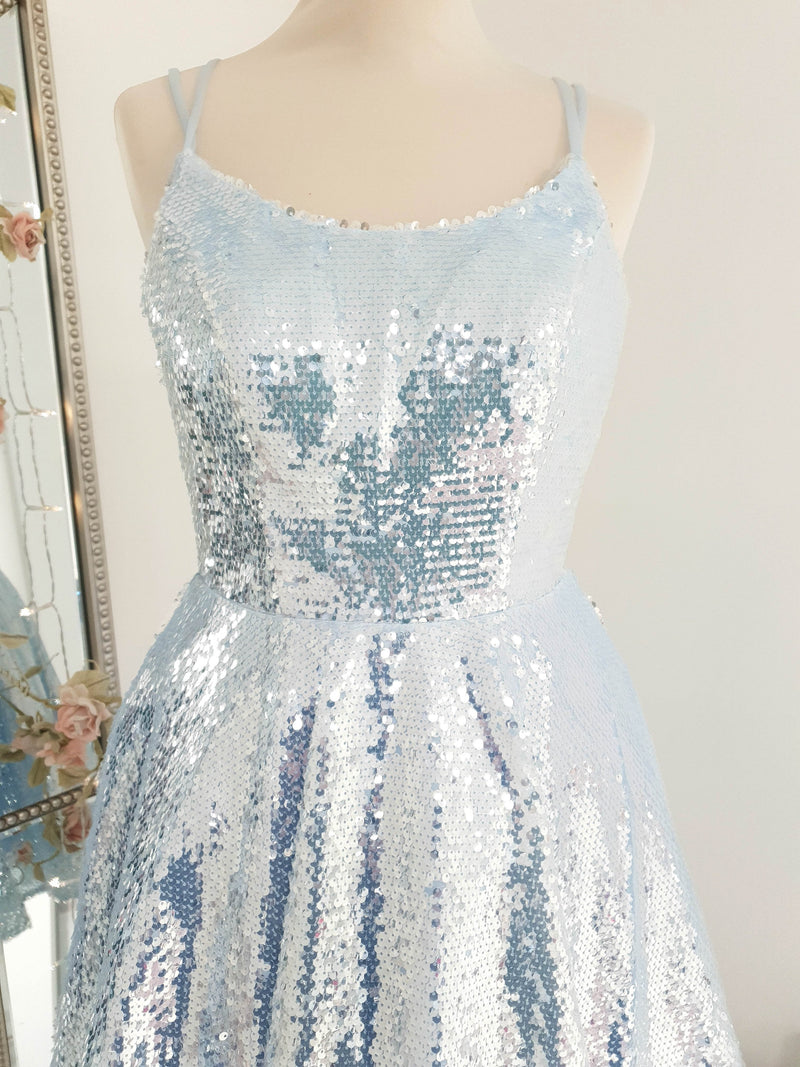 Maura Mini Dress Blue Sequin