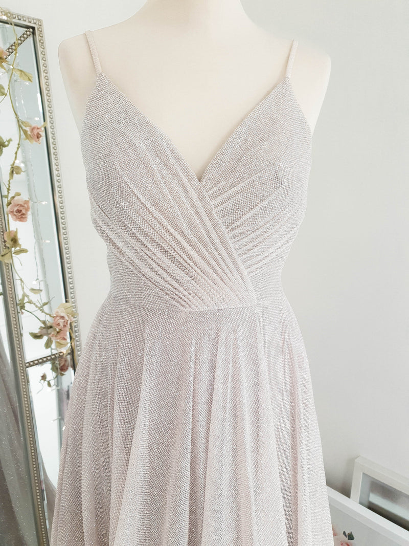 Ella Glitter Gown Light Pink