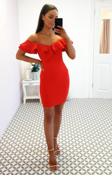 Sienna Mini Dress Blood Orange
