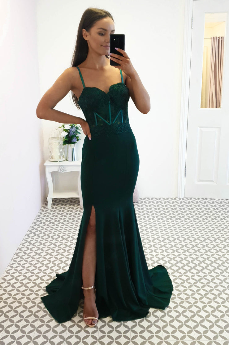 Polly Gown Emerald Green
