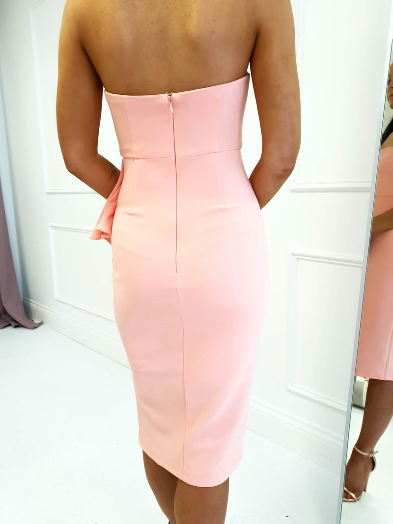 Elsie Midi Dress Peach