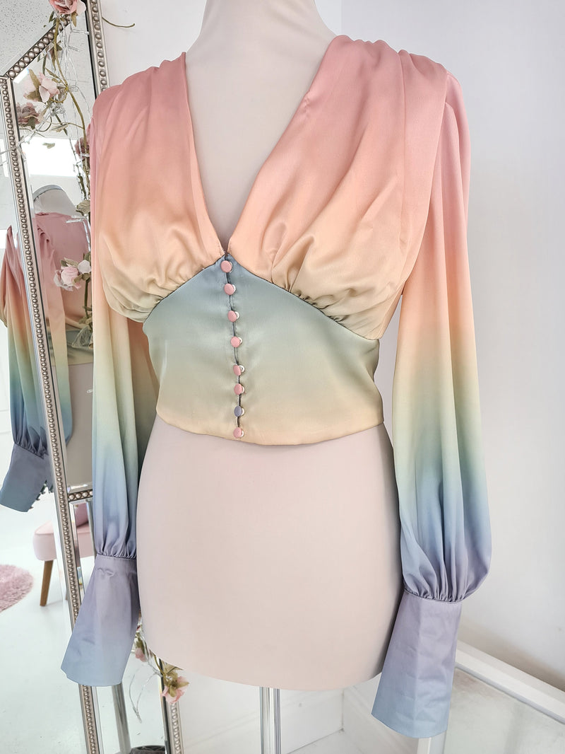 Ombre Blouse Top