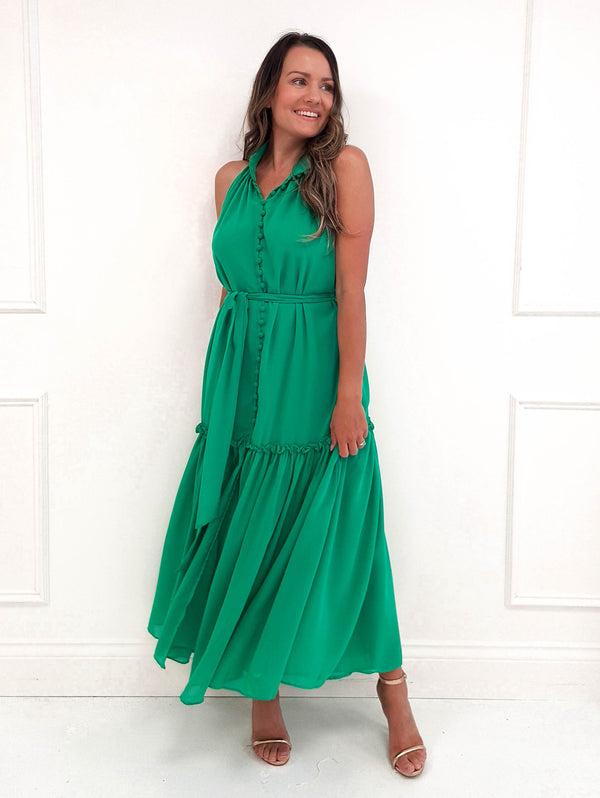 Elle Midi Dress Green