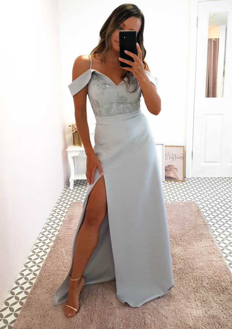 Amanda Off The Shoulder Maxi Grey