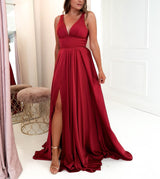 Ravena Gown Berry Red