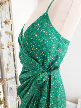 Carrie Midi Wrap Dress Green