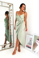 Carrie Midi Wrap Dress Sage