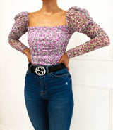 Becky Lilac Floral Bodysuit