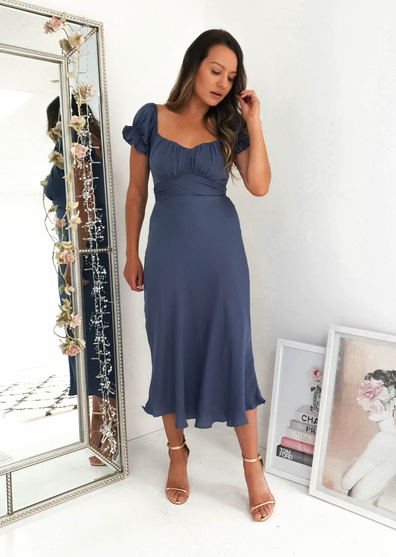 Jada Midi Dress Midnight Blue