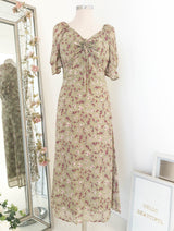 Castella Midi Dress Green Print