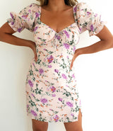 Tea Party Mini Dress Pink