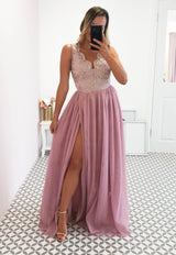 Chiara Tulle Gown Powder Mauve
