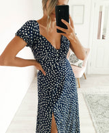 Marina Floral Midi Dress Navy