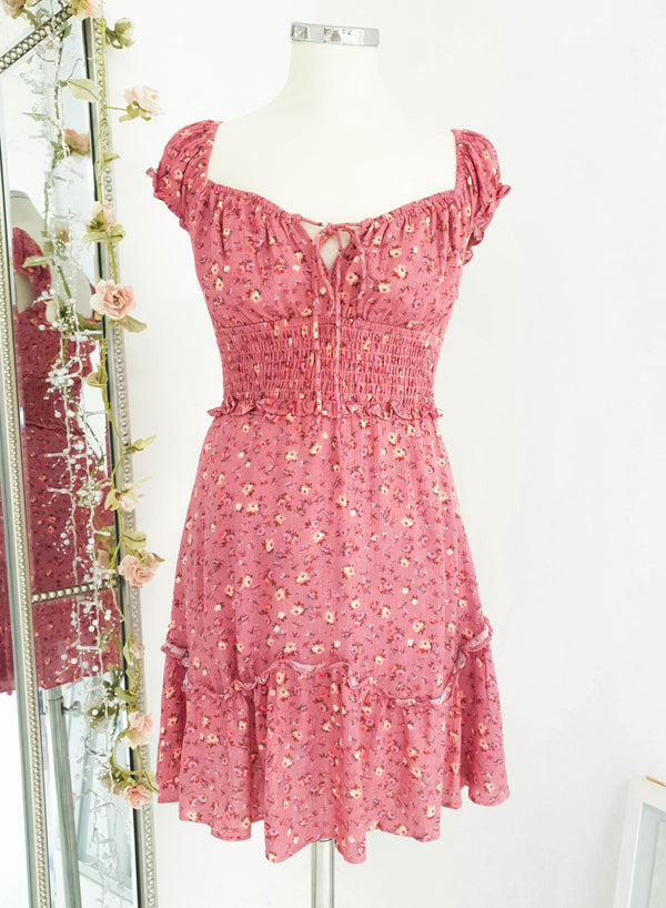Posy Floral Mini Dress Pink