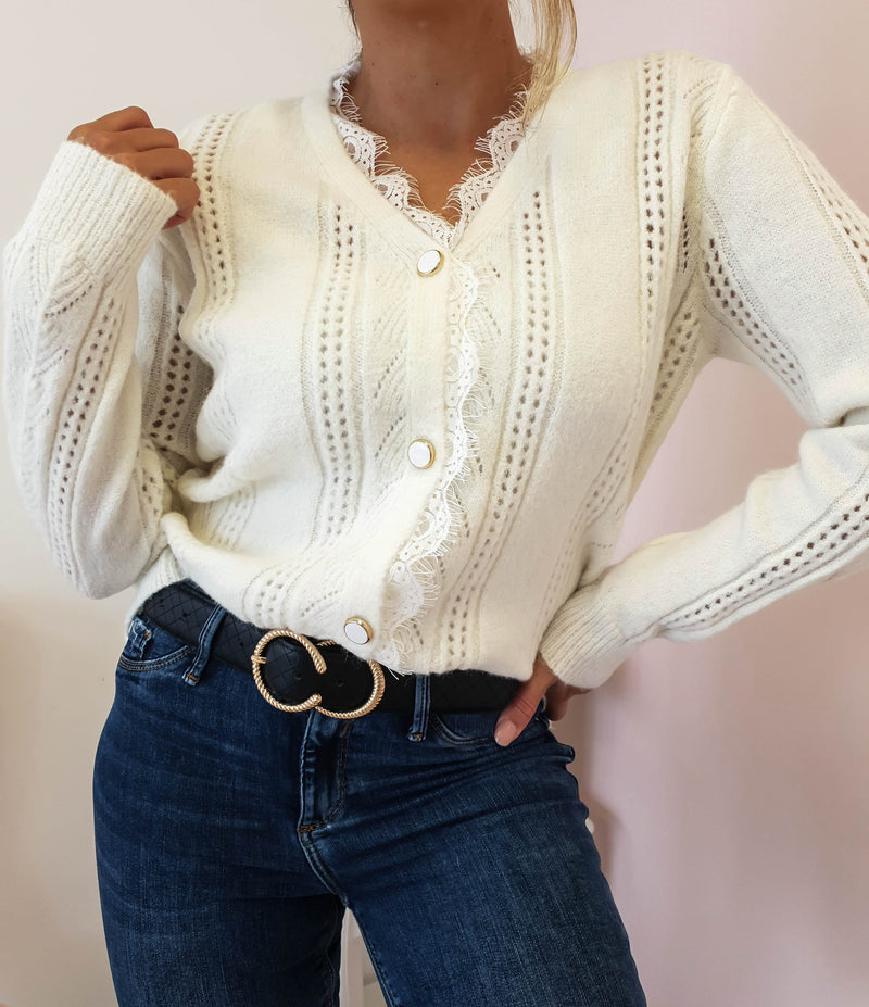 Sophie Knitted Cardigan Cream