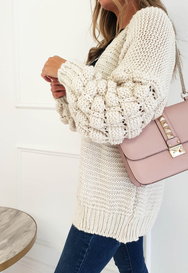 Francis Knitted Cardigan Cream
