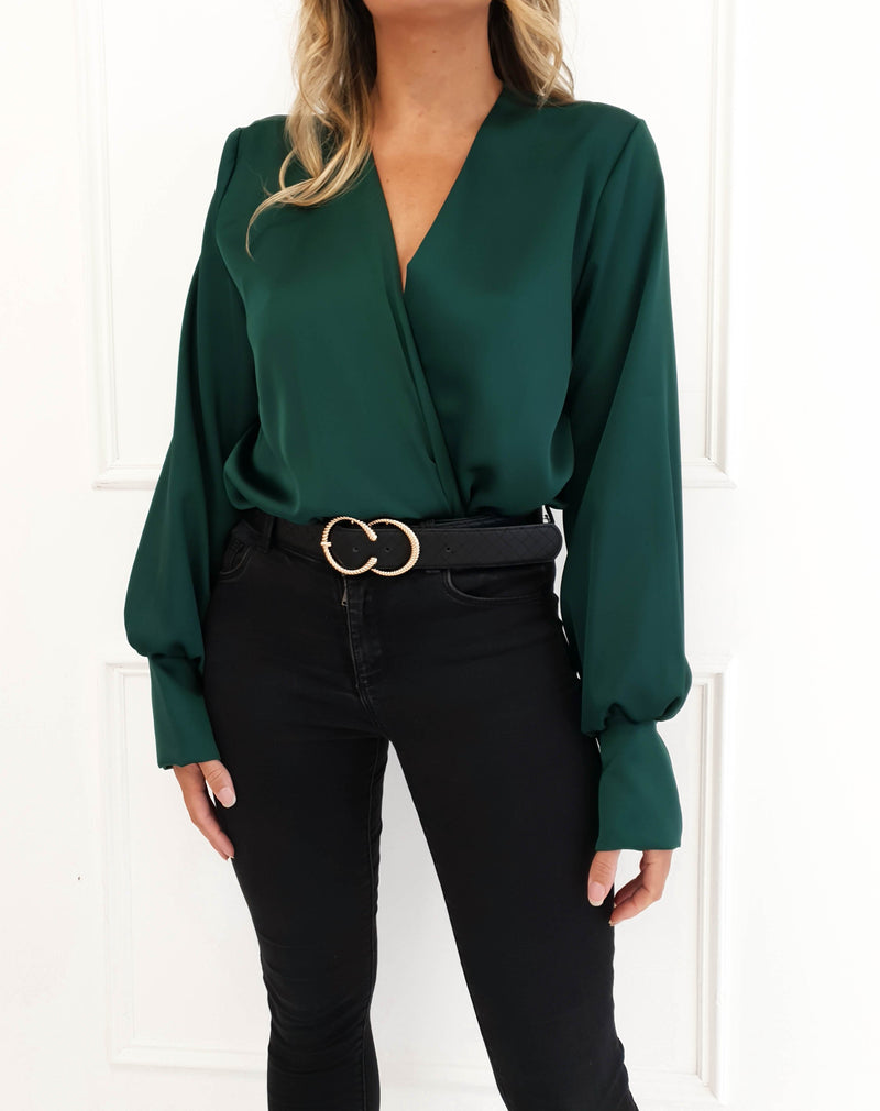 Carley Long Sleeve Top Emerald