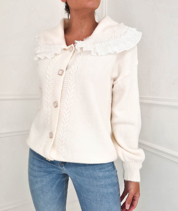 Charlotte Luxe Cardigan Buttermilk