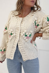 Pia Heart appliqué Cardigan