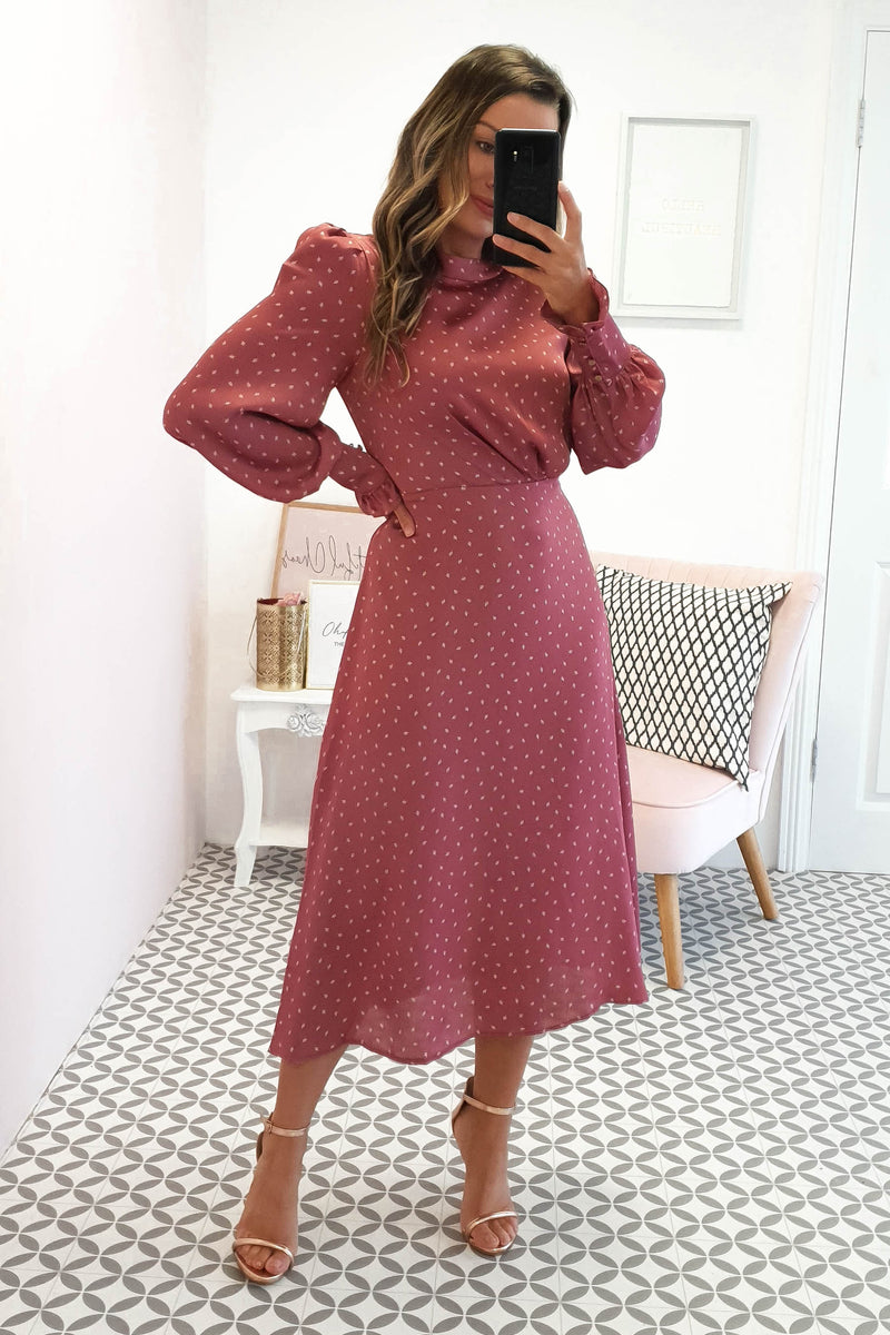 Alexander Long Sleeve Midi Dress