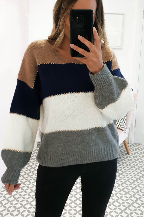 Stephanie Stripe Knitted Jumper