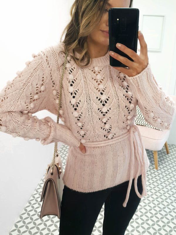 Becca Knitted Jumper Pink