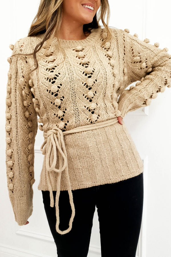 Becca Knitted Jumper Camel