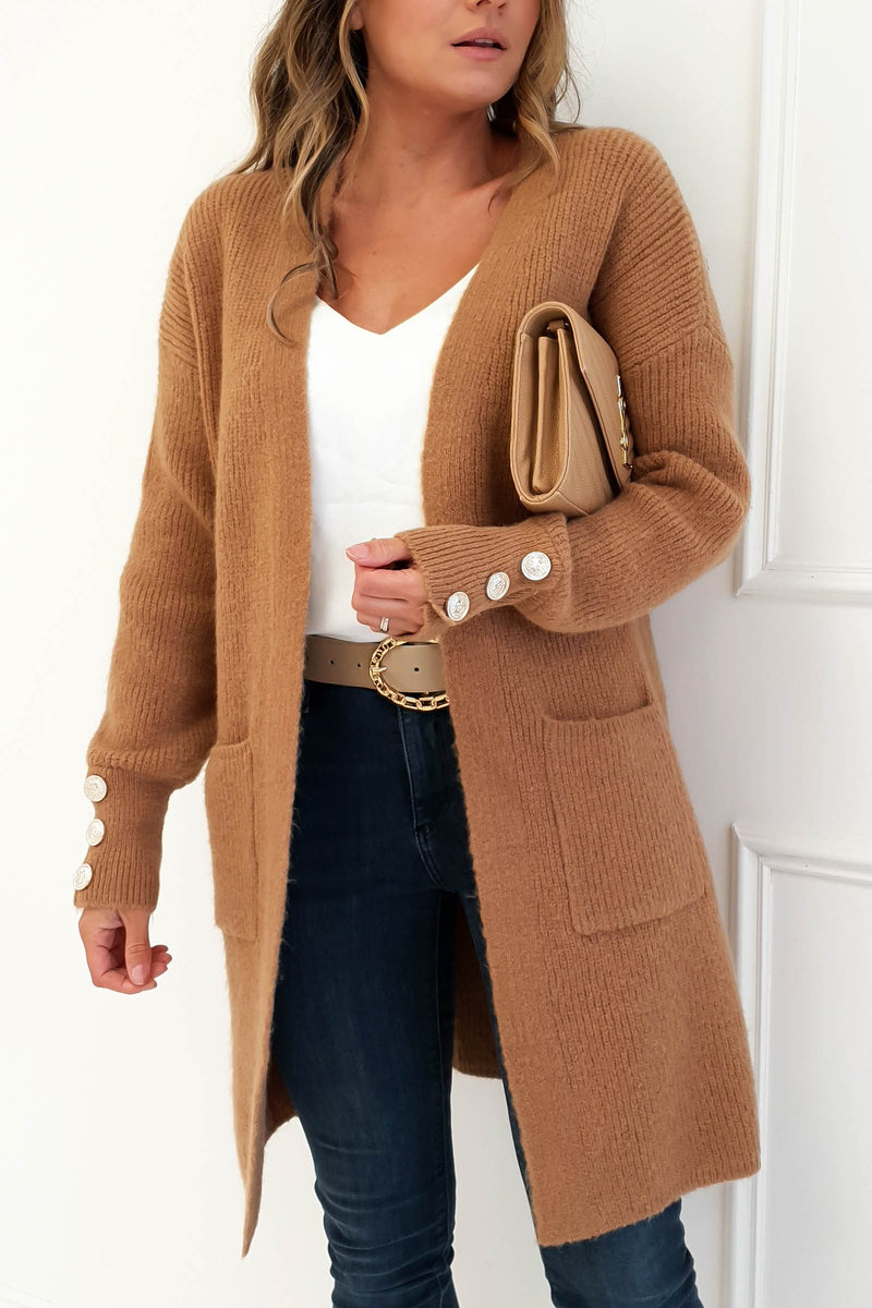Windsor Soft Knitted Cardigan Camel