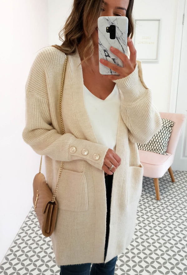 Windsor Soft Knitted Cardigan Cream