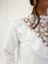 Alissa Lace Embroidery Jumper White