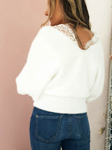 Surry Soft Plush Jumper White