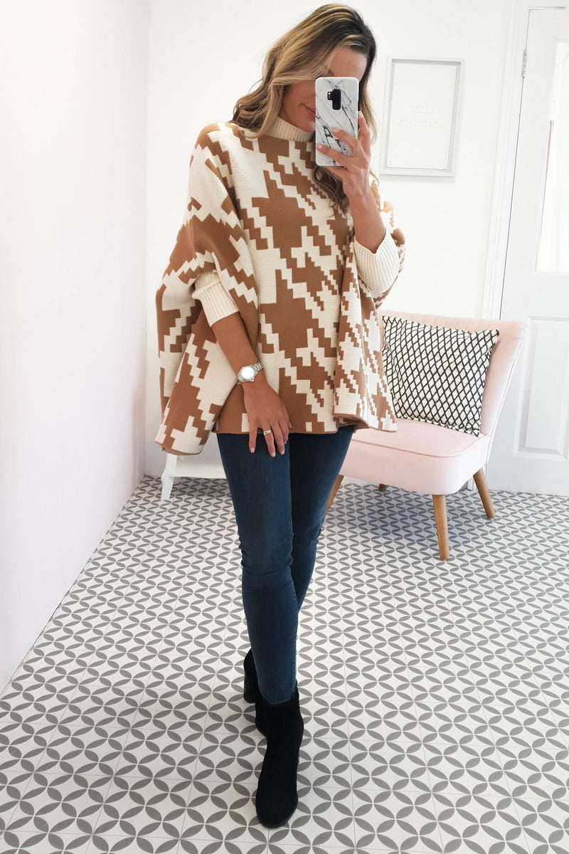 Aisling Oversized Poncho Jumper