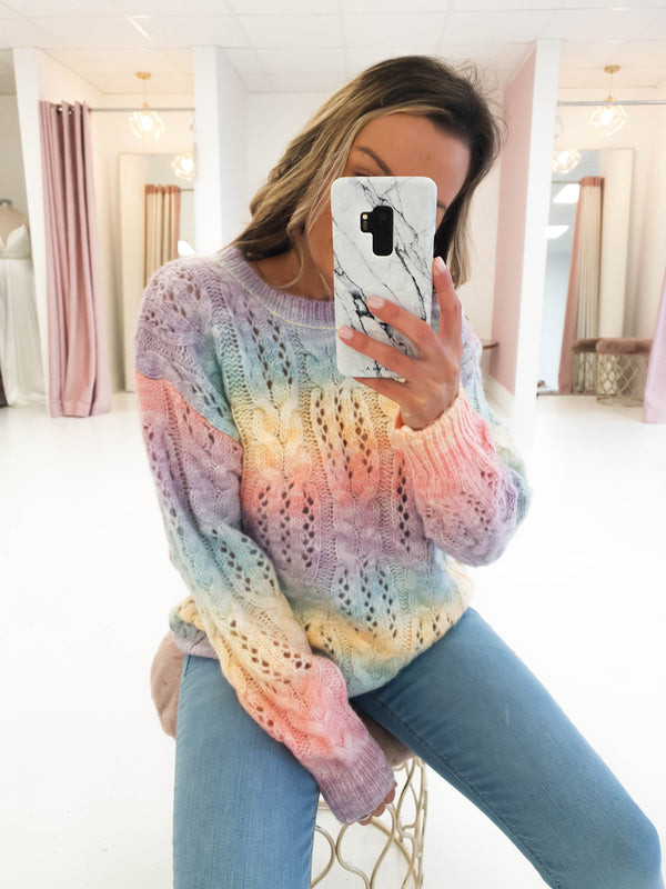 Amy Tie Dye Jumper | Rainbow