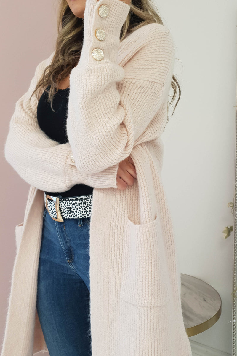 Windsor Soft Knitted Cardigan Rose