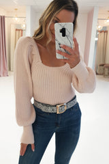 Cece Square Neck Jumper Rose