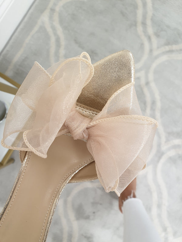 Frenchie Bow Heels