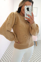 Connie Puff Sleeve Jumper Camel