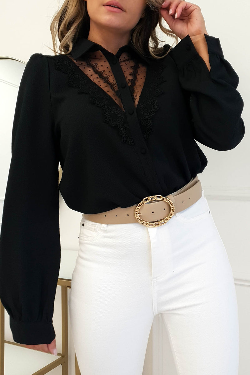 Helga Shirt With Lace Detail