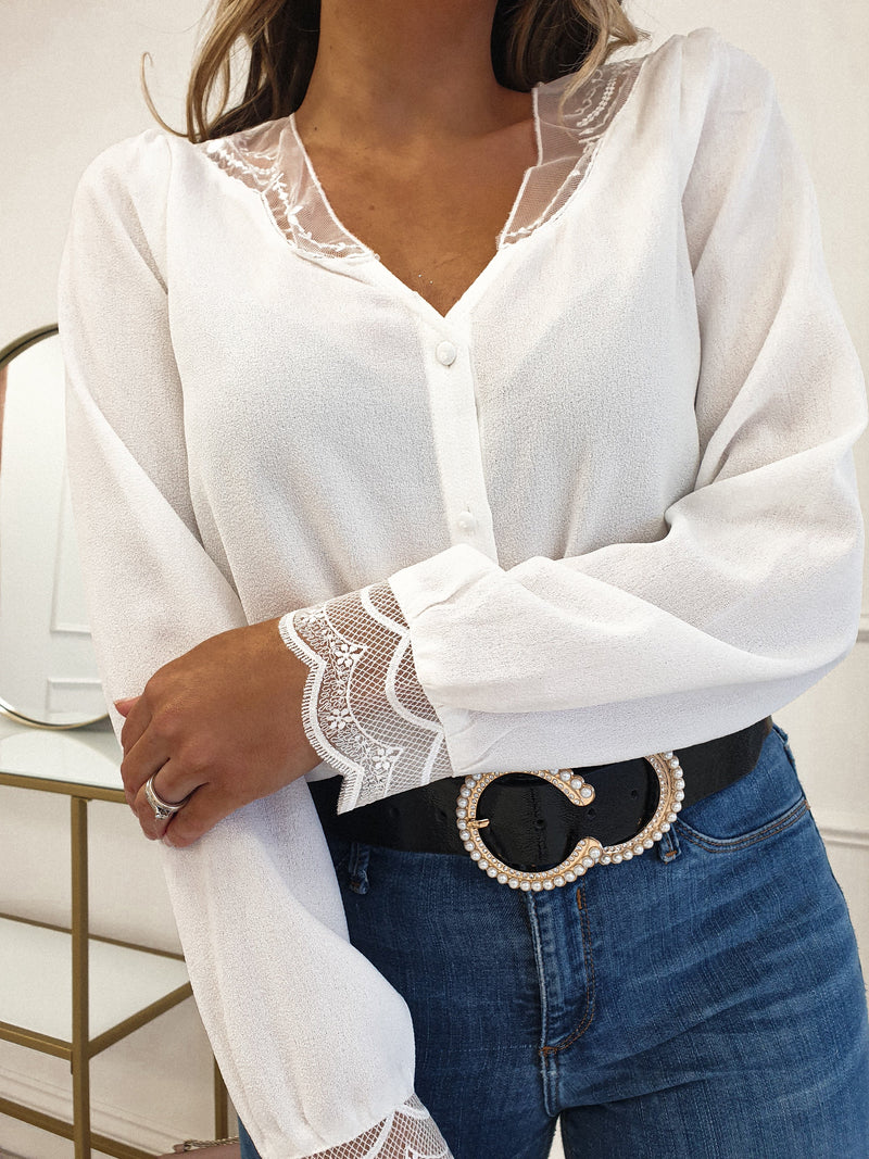 Sadie Shirt With Lace Detail