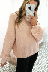 Pallas Chunky Knitted Jumper | Pink