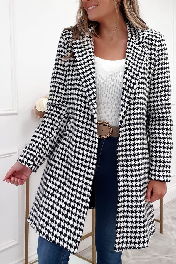 Marianna Houndstooth Coat