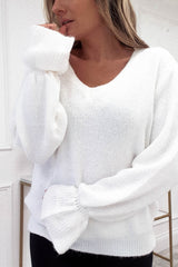 Henrietta Knitted Jumper White