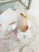 Frenchie Bow Heels | Silver