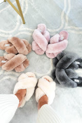 SilkLee | Luxurious Sheep Skin Slippers | Rose