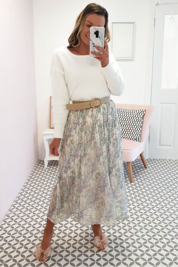 Holly Midi Skirt | Floral Print